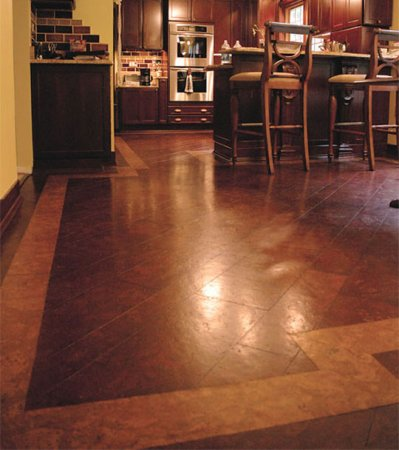 Cork Flooring with Border