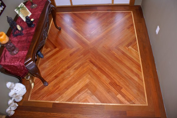 Mahogany Floor with Pattern