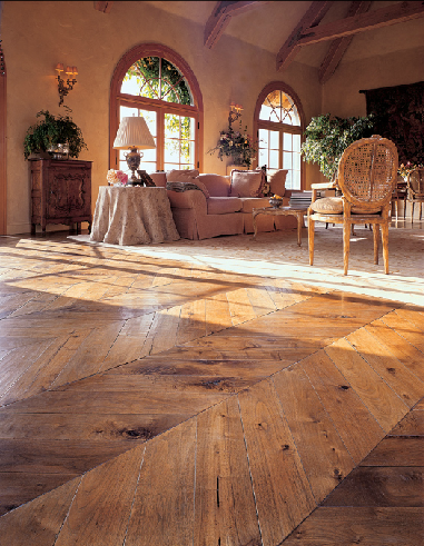Patina Old World Flooring Hand Scraped Herringbone