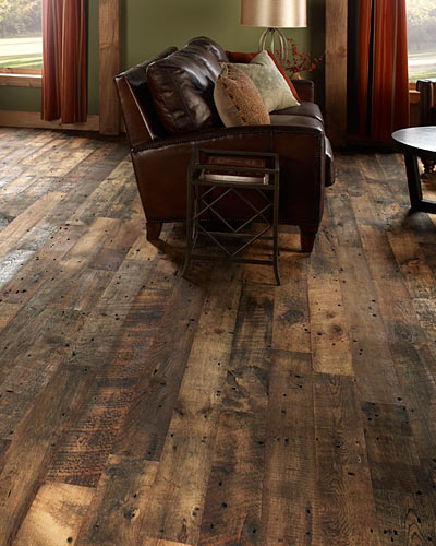 Reclaimed hardwood flooring for Recycled wood floor