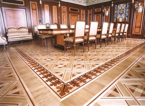 Custom Designed Boardroom Hardwood Floor