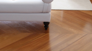 Brazilian Teak Herringbone Design