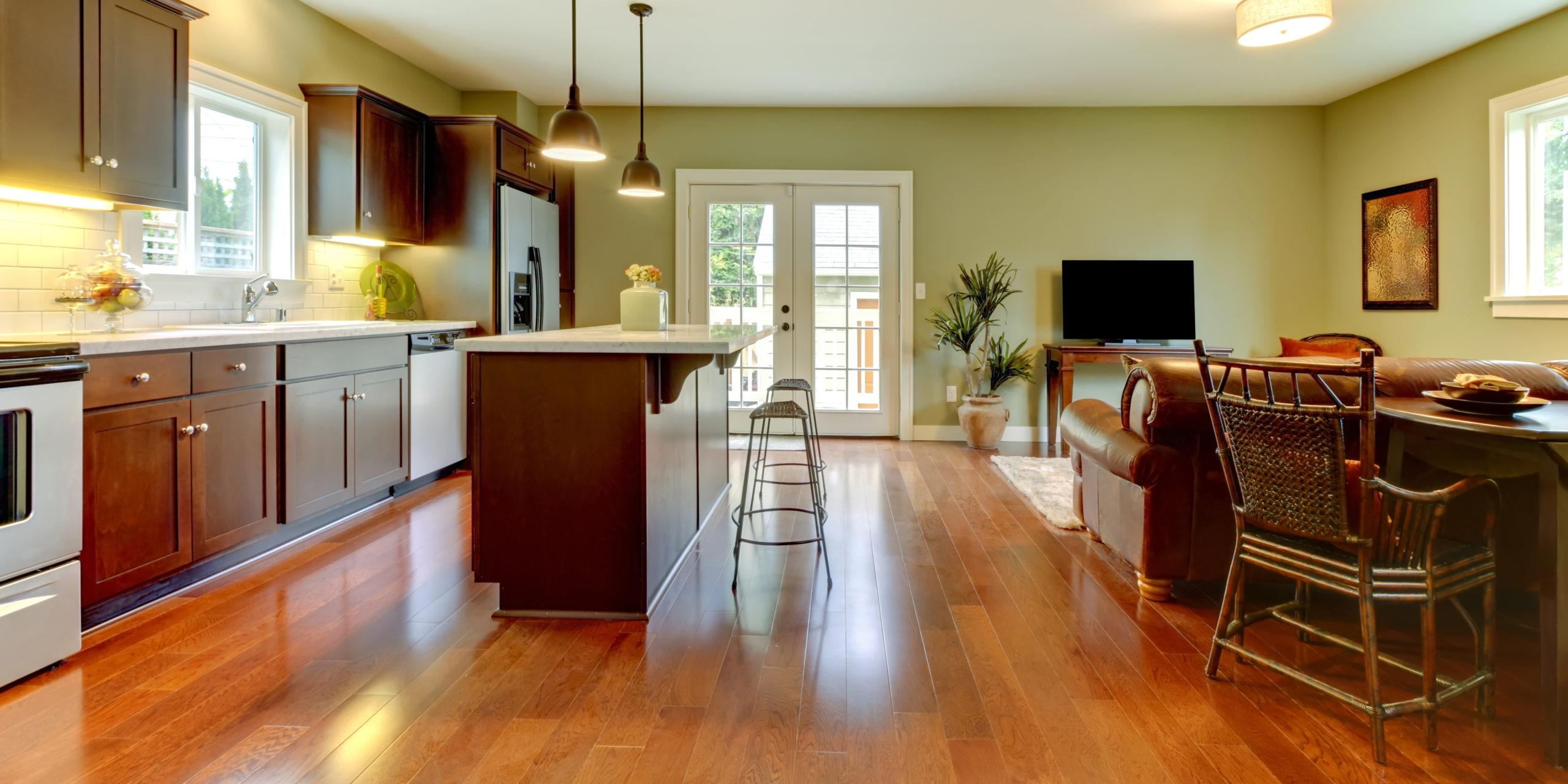 decorating cherry hardwood floors